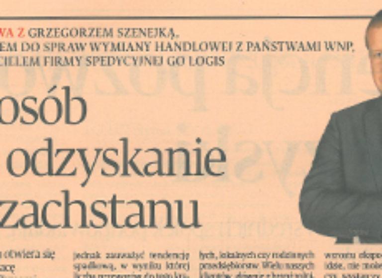 Puls Biznesu - wywiad z Grzegorzem Szenejką
