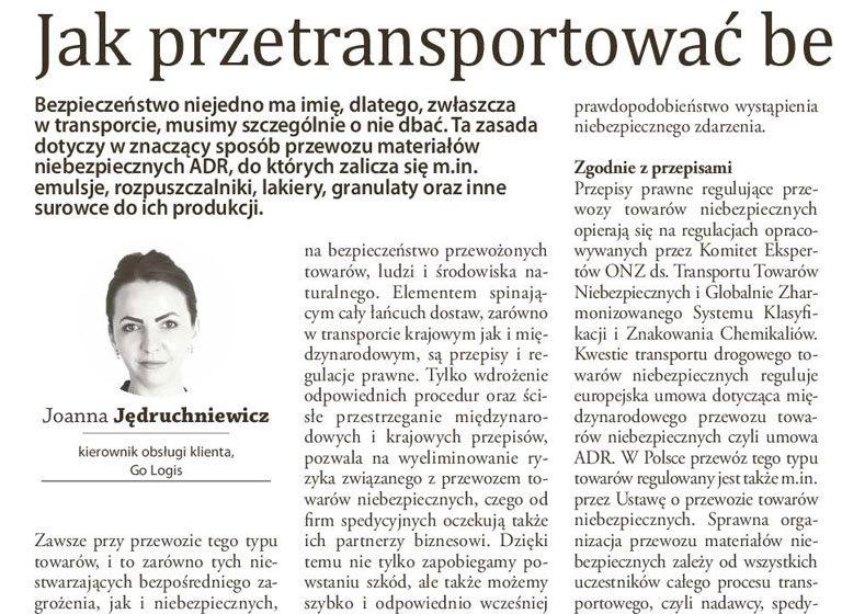TSL biznes - Gazeta Finansowa - Jak przetransportować bezpiecznie towary niebezpieczne